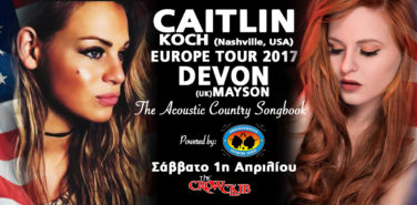CAITLIN KOCH AND DEVON MAYSON EUROPE TOUR 2017 THE ACOUSTIC COUNTRY SONGBOOK